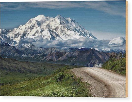Mount Denali Wood Print
