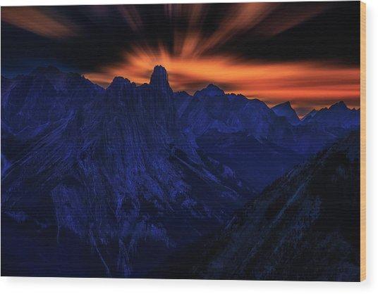 Mount Doom Wood Print