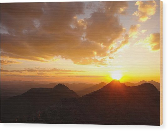 Mount Evans Sunset Wood Print