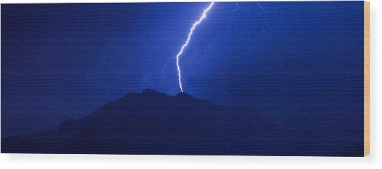 Mount Franklin Lightning Wood Print