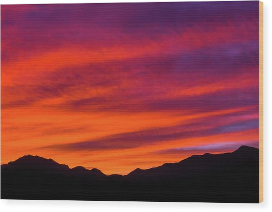 Mount Franklin Purple Sunset Wood Print