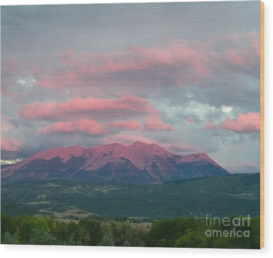 Mount Gunnison Sunset In Colorado Wood Print
