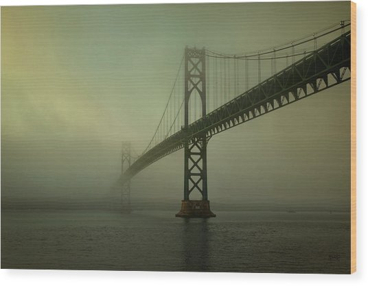 Mount Hope Bridge Wood Print