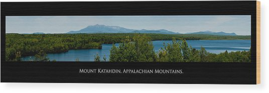 Mount Katahdin Wood Print