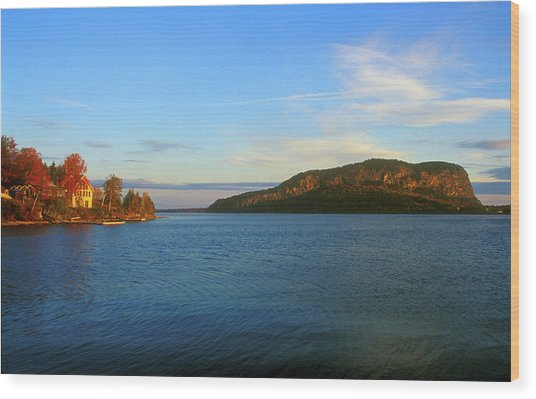 Mount Kineo Moosehead Lake Wood Print