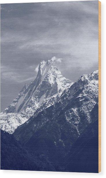 Mount Machapuchare, The Himalayas, Nepal Wood Print