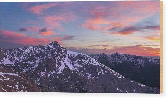 Mount Of The Holy Cross Panorama Wood Print by Aaron Spong