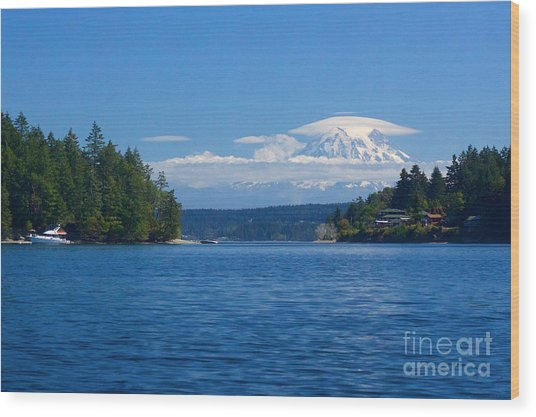 Mount Rainier Lenticular Wood Print