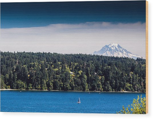 Mount Rainier Wood Print