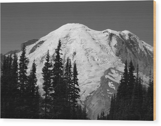 Mount Rainier Wood Print by Sonja Anderson