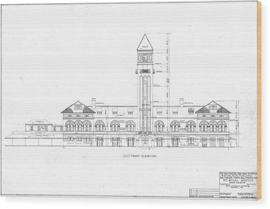 Mount Royal Station Wood Print