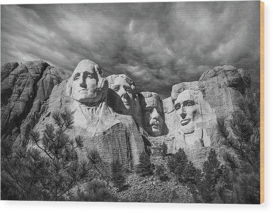 Mount Rushmore II Wood Print