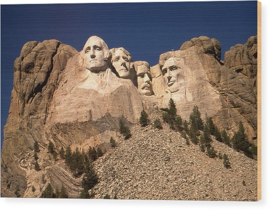Mount Rushmore National Monument South Dakota Wood Print