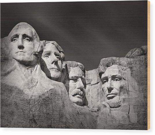 Mount Rushmore South Dakota Usa Wood Print