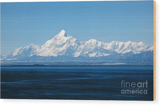 Mount Saint Elias. Yakutat Bay Seascapes Wood Print