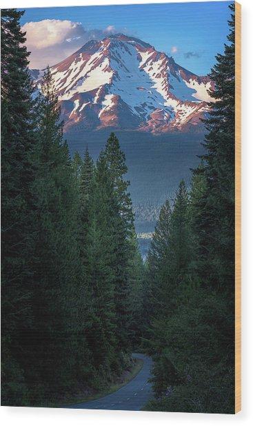 Mount Shasta - A Roadside View Wood Print