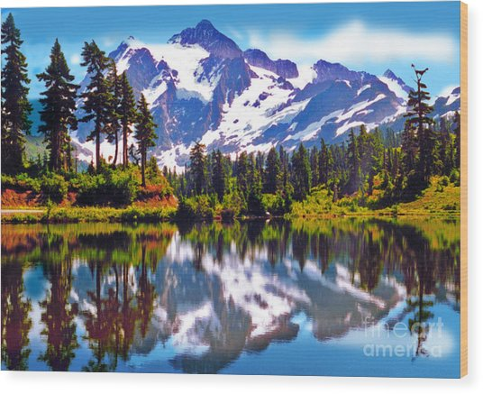 Mount Shuksan Washington Wood Print