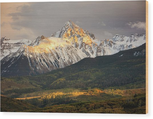 Mount Sneffels Sunset Wood Print