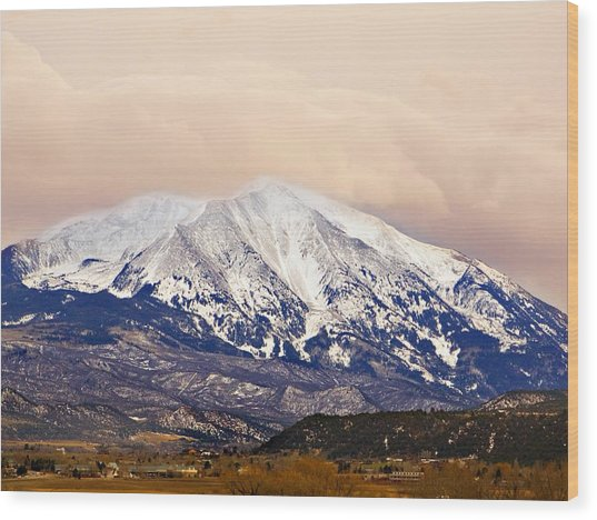 Mount Sopris Wood Print