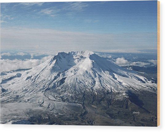 Mount St. Helens 0005 Wood Print by David Mosby