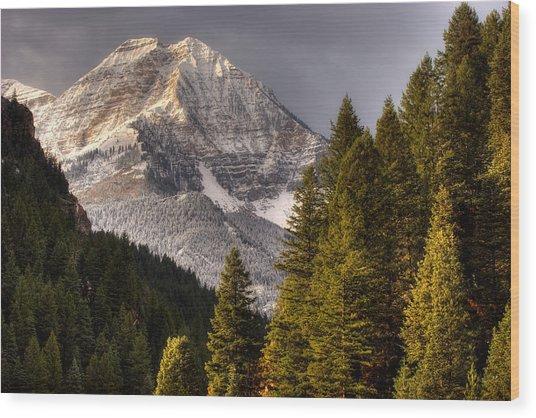 Mount Timpanogos 3 Wood Print