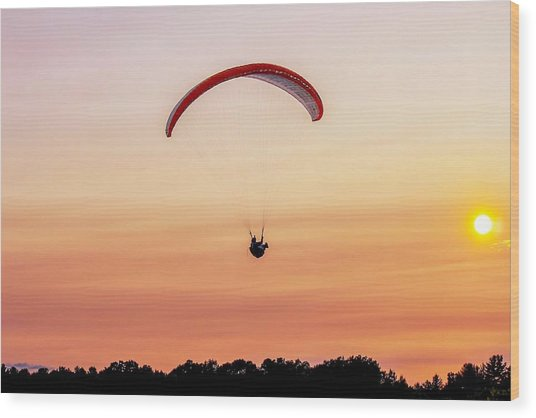 Mount Tom Parachute Wood Print