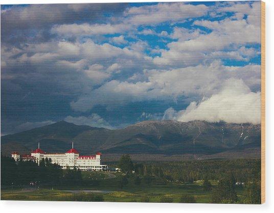 Mount Washington And The Presidential Mountain Range Of New Hampshire Wood Print