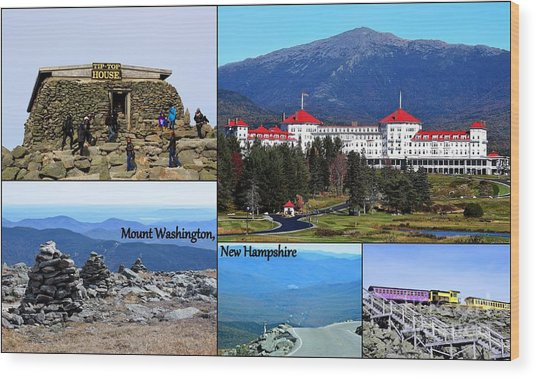 Wood Print featuring the photograph Mount Washington Collage by Patti Whitten