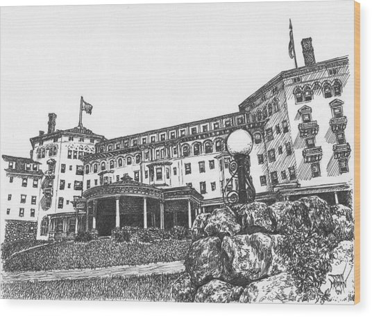 Mount Washington Hotel Number Four Wood Print