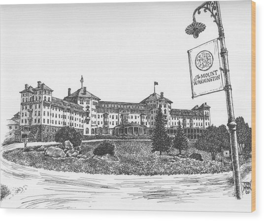 Mount Washington Hotel Number One Wood Print