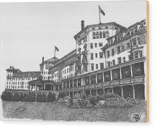 Mount Washington Hotel Number Two Wood Print