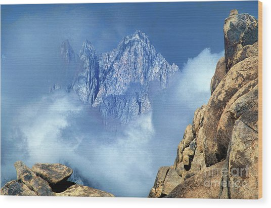 Mount Whitney Clearing Storm Eastern Sierras California Wood Print