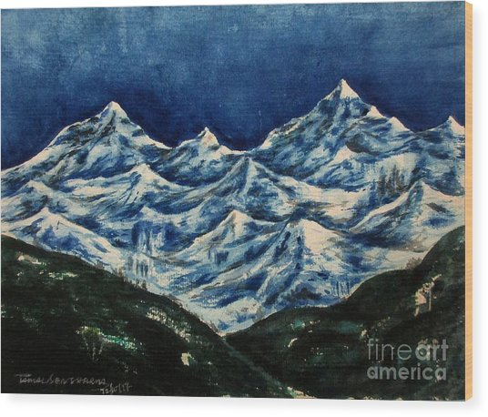Mountain-2 Wood Print
