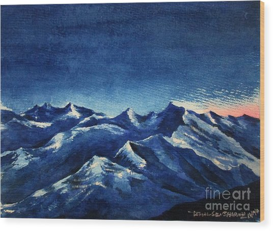 Mountain-4 Wood Print
