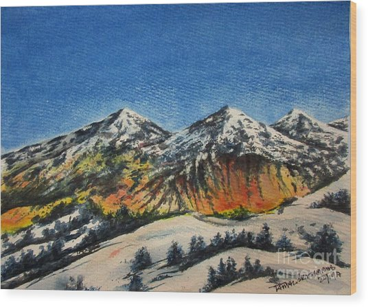 Mountain-5 Wood Print