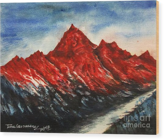 Mountain-7 Wood Print