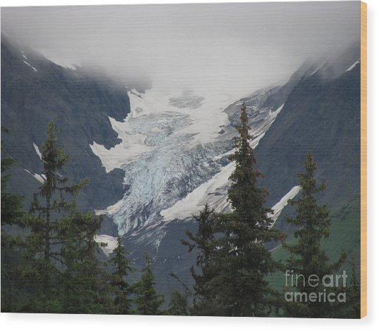 Mountain Glacier Wood Print