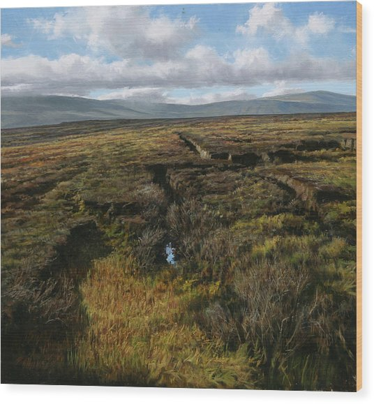 Mountain Heather Wood Print by Eugene Conway