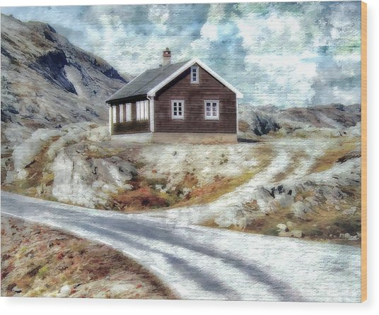 Mountain Home Wood Print