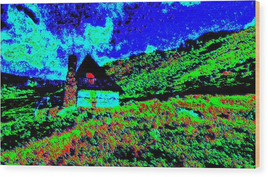Mountain House Dd3 Wood Print by Modified Image