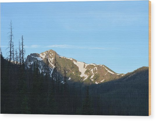 Mountain In Rocky Mountian Np Co Wood Print