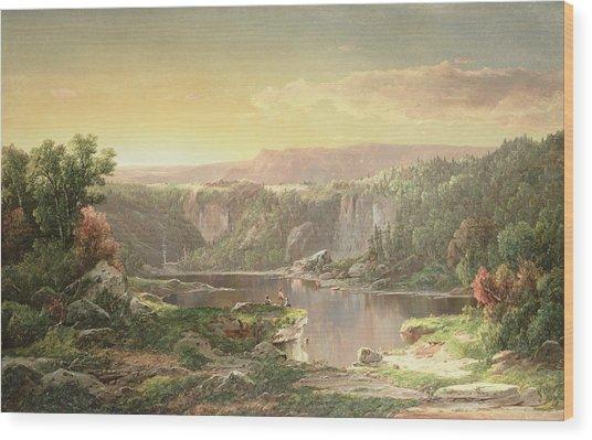 Mountain Lake Near Piedmont Wood Print