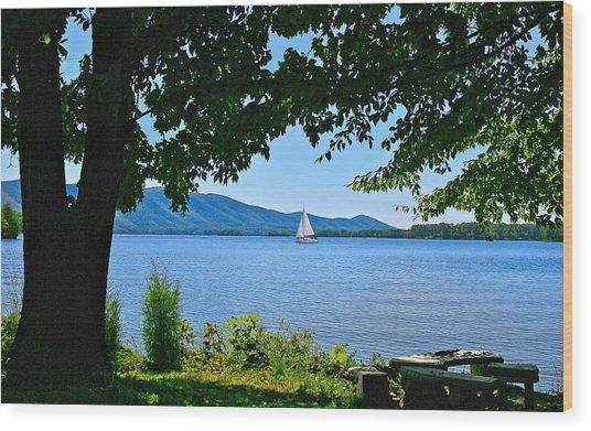 Smith Mountain Lake Sailor Wood Print