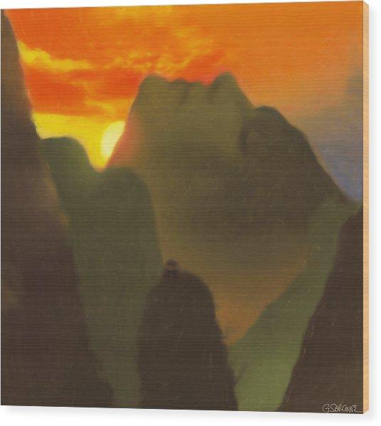 Mountain Magic Wood Print