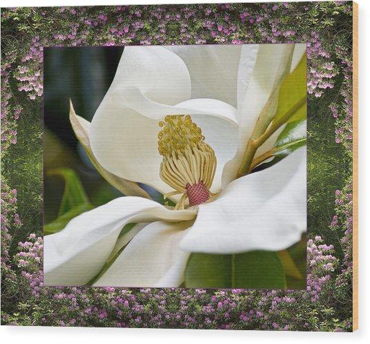 Mountain Magnolia Wood Print