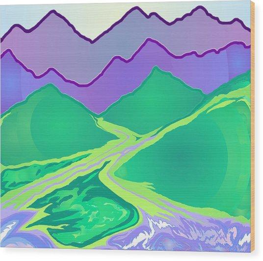 Mountain Murmurs Wood Print