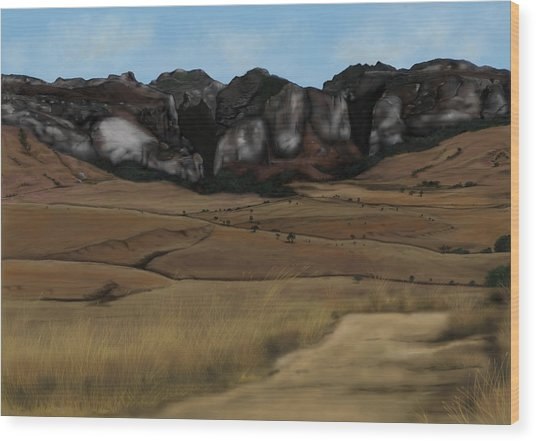 Mountain Plains Wood Print