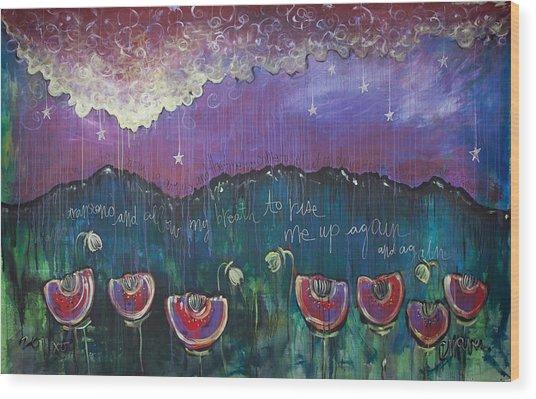 Mountain Poppies Wood Print
