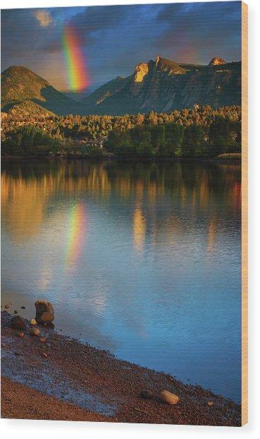 Mountain Rainbows Wood Print