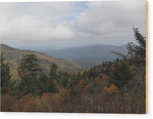 Mountain Ridge View Wood Print